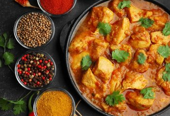 Indian Curry Chicken Plate