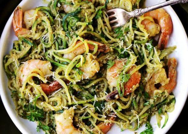 Zucchini Noodles Pesto Garlic 2