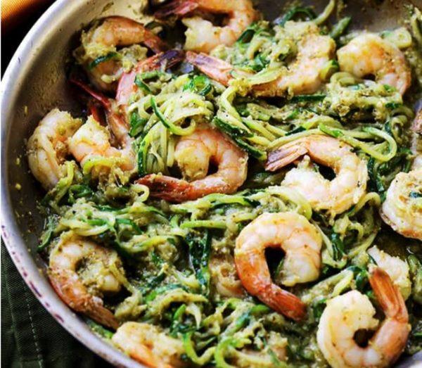 Zucchini Noodles Pesto Garlic