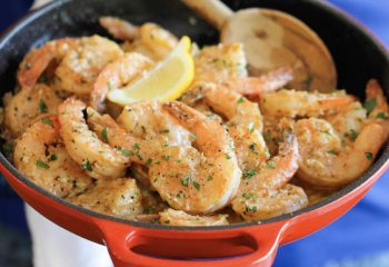 Garlic Shrimp Prawns Plate Keto