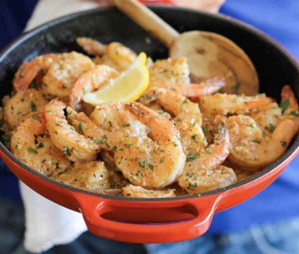 Out of the Cave Garlic Shrimp
