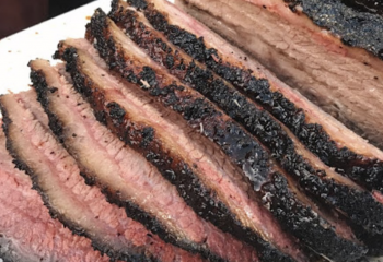 Smoked Wagyu Brisket Texas Style Plate